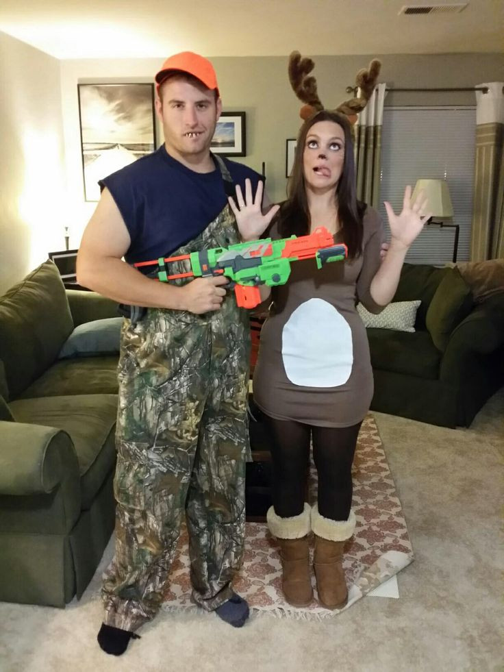 Best ideas about DIY Hunter Costume . Save or Pin Hunter and deer costume Halloween Now.
