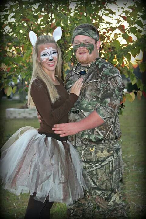 Best ideas about DIY Hunter Costume . Save or Pin Cute easy diy couples costume as a doe and hunter I did Now.
