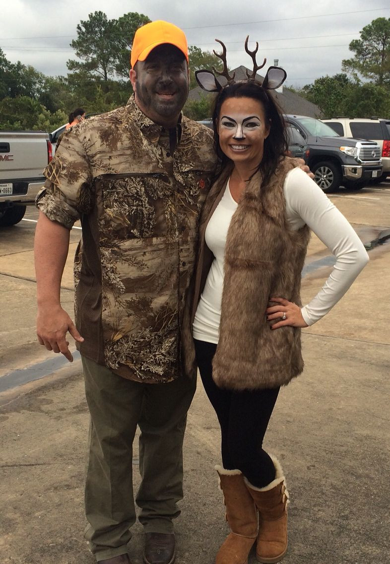 Best ideas about DIY Hunter Costume . Save or Pin DIY Halloween Costume Deer and her Hunter Now.