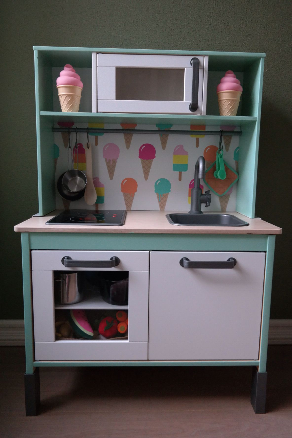 Best ideas about DIY Ikea Kitchen . Save or Pin Our little girls loves her diy Ikea Duktig play kitchen Now.