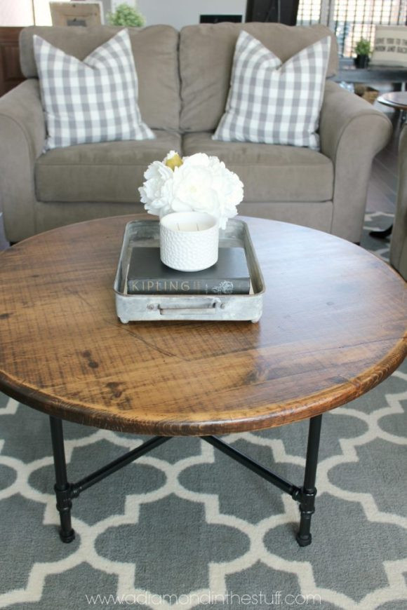 Best ideas about DIY Industrial Coffee Table . Save or Pin DIY Round Industrial Coffee Table Now.