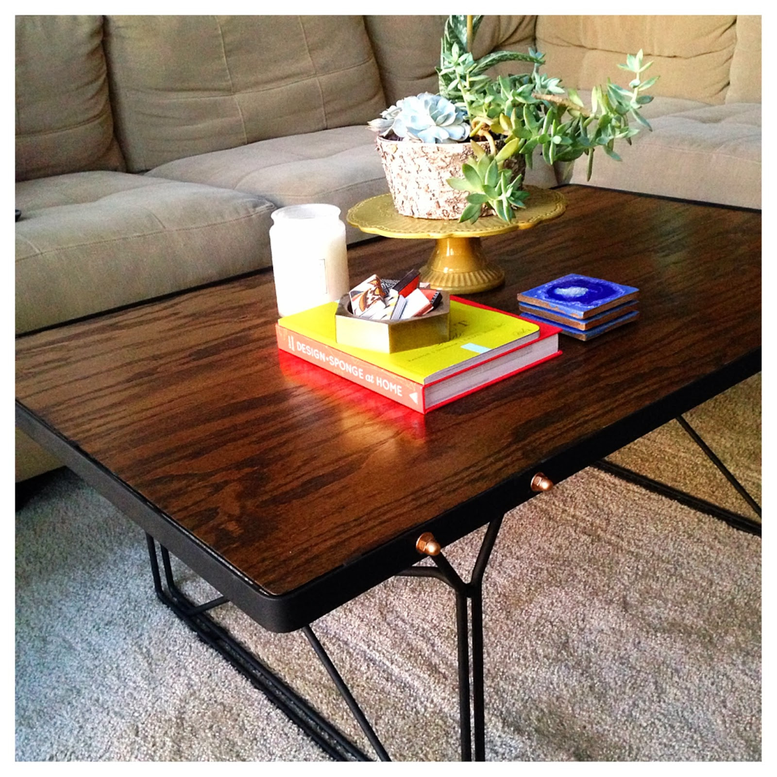 Best ideas about DIY Industrial Coffee Table . Save or Pin for a song DIY [industrial coffee table reveal] Now.