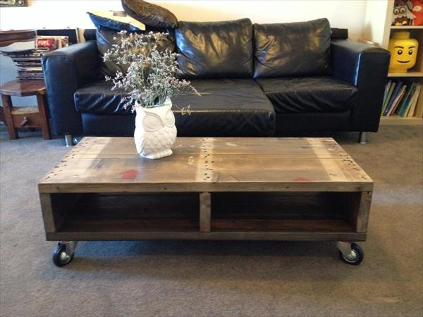 Best ideas about DIY Industrial Coffee Table . Save or Pin DIY Industrial Pallet Coffee Table Now.
