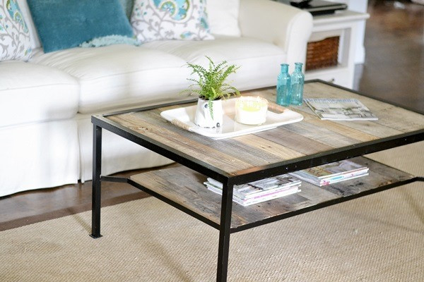 Best ideas about DIY Industrial Coffee Table . Save or Pin Coffee Table Makeover Industrial Beneath My Heart Now.