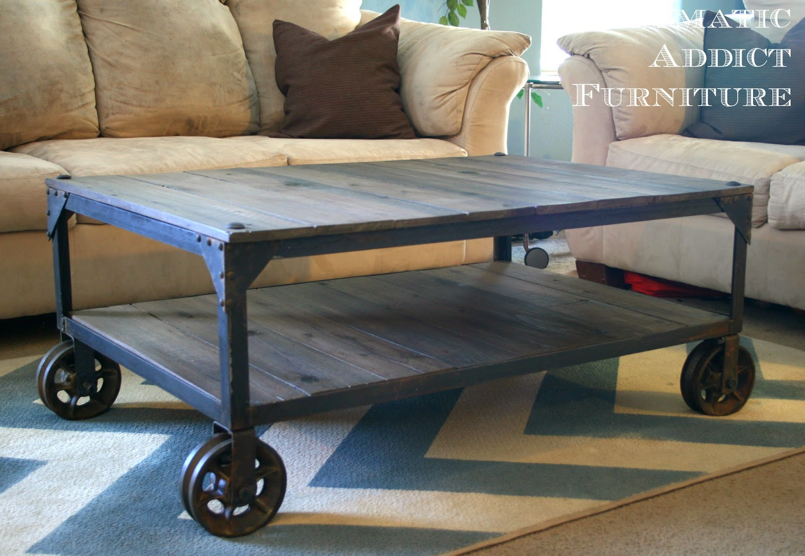 "Best ideas about DIY Industrial Coffee Table . Save or Pin World Market ""Aiden"" Coffee Table Knock off Now."