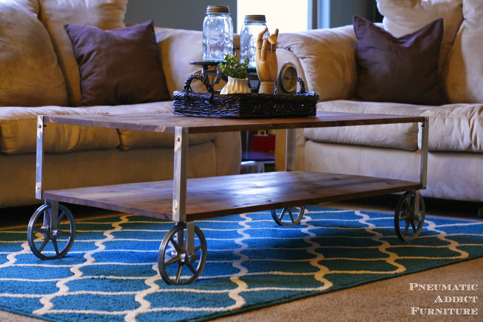 Best ideas about DIY Industrial Coffee Table . Save or Pin EASY Industrial Coffee Table No Welding Now.