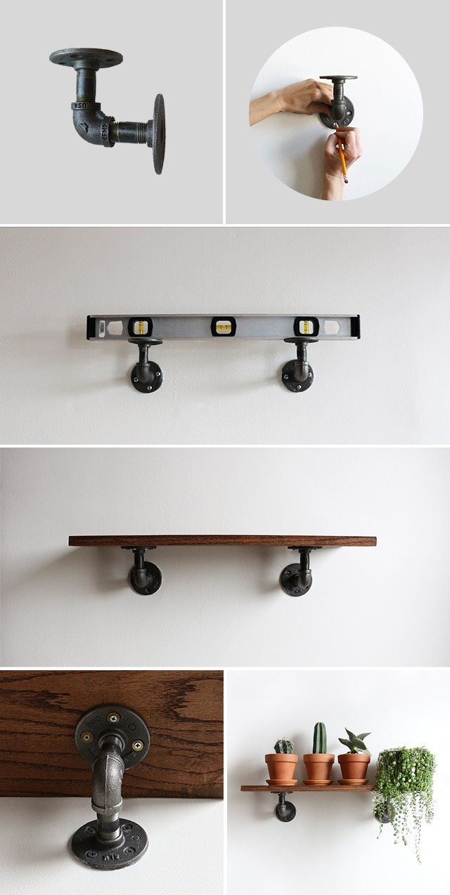 Best ideas about DIY Industrial Shelves . Save or Pin DIY Industrial Wall Shelves – Alana Jones Mann Now.