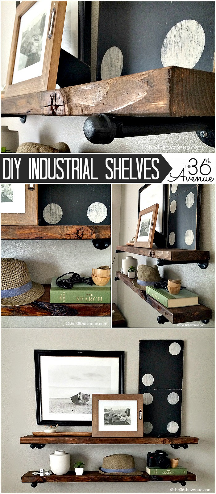 Best ideas about DIY Industrial Shelves . Save or Pin DIY Project Ladder Makeover The 36th AVENUE Now.