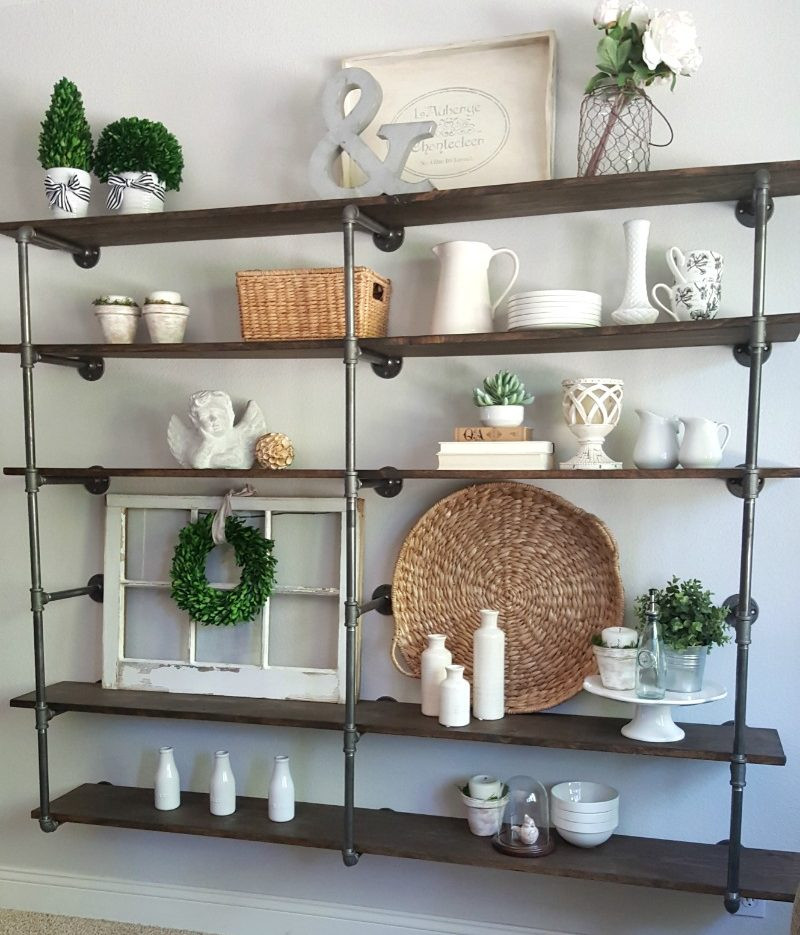 Best ideas about DIY Industrial Shelves . Save or Pin DIY industrial pipe shelves Now.