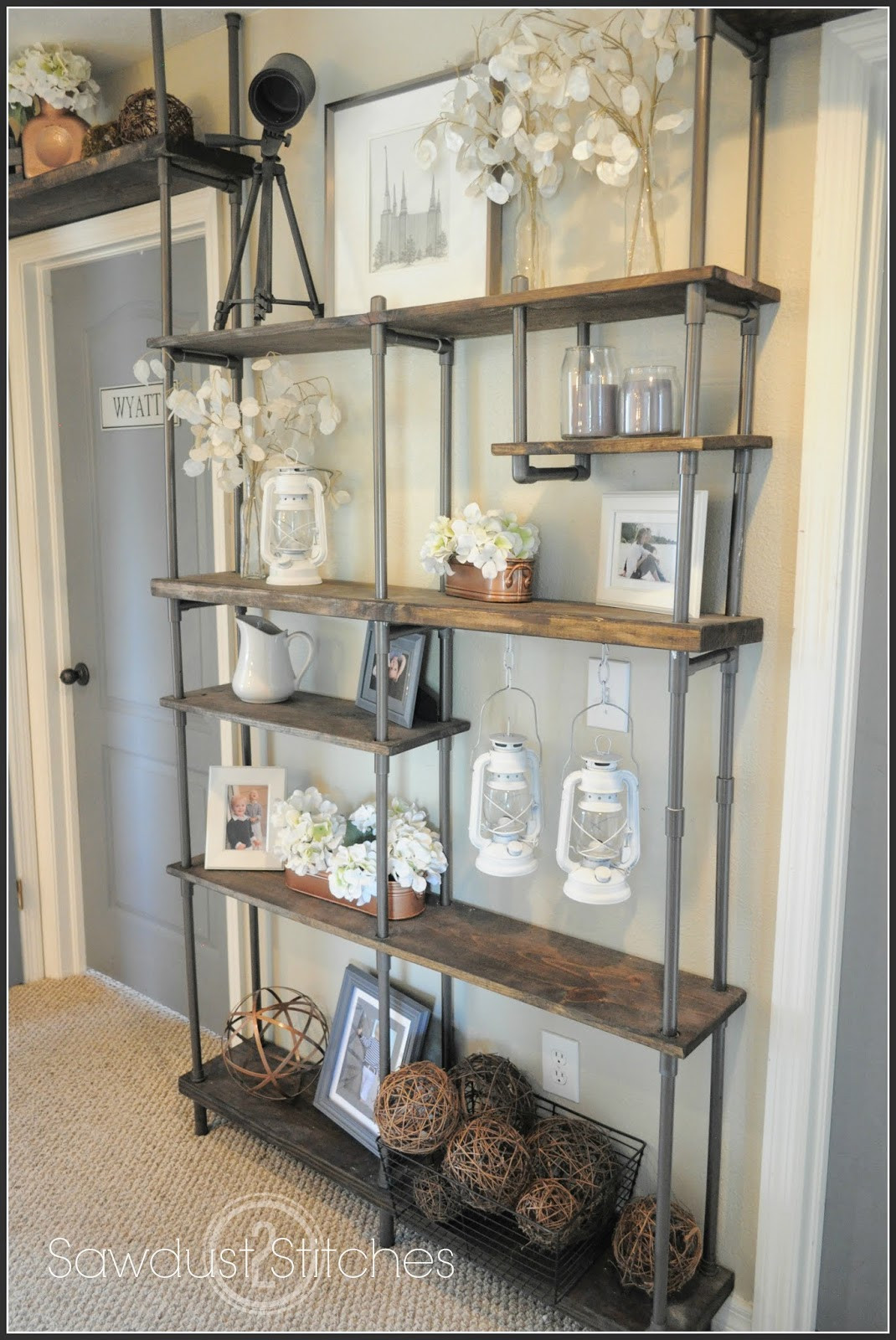 Best ideas about DIY Industrial Shelves . Save or Pin DIY Faux Industrial Shelves Uncookie Cutter Now.
