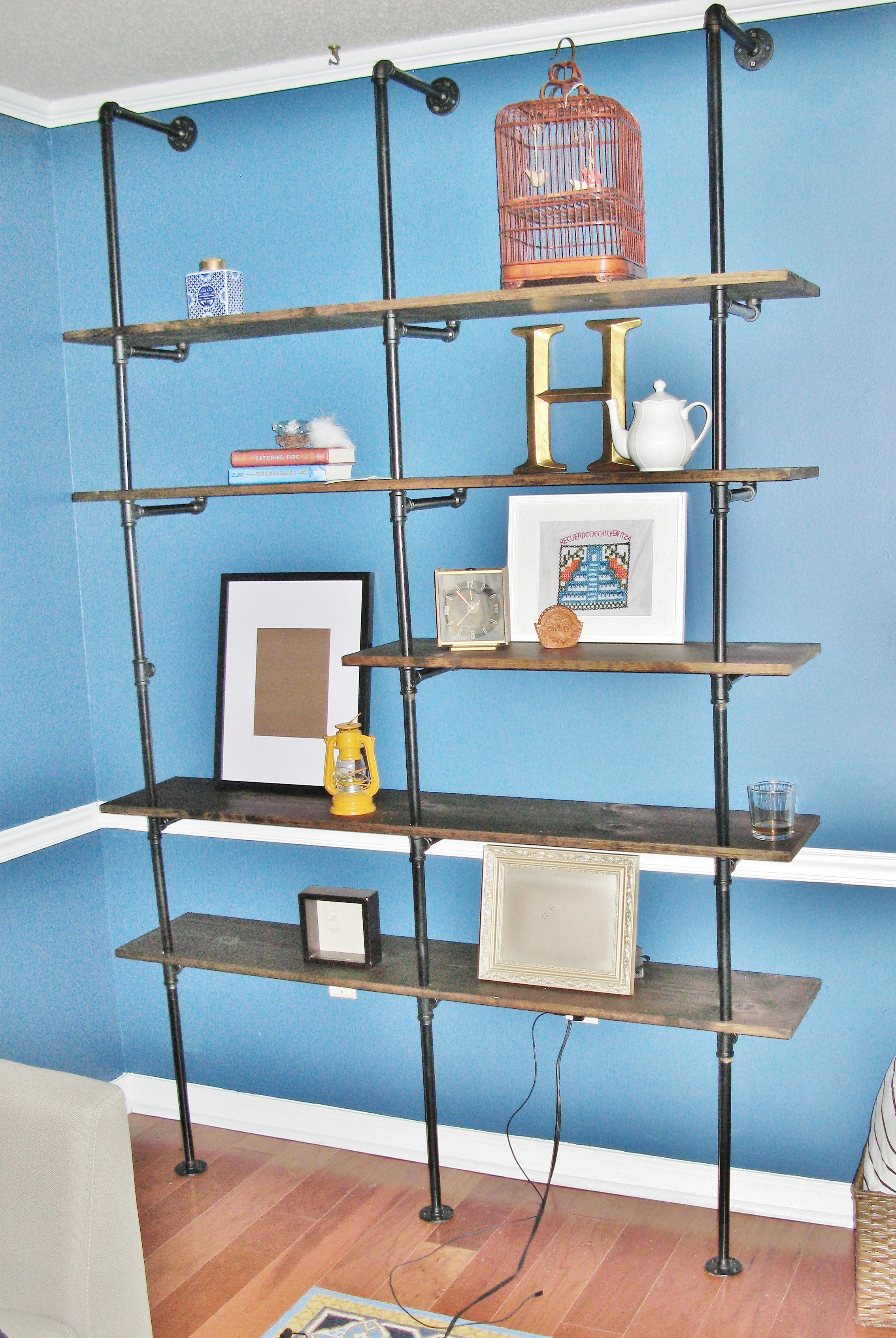 Best ideas about DIY Industrial Shelves . Save or Pin DIY Industrial Pipe Bookshelf Now.