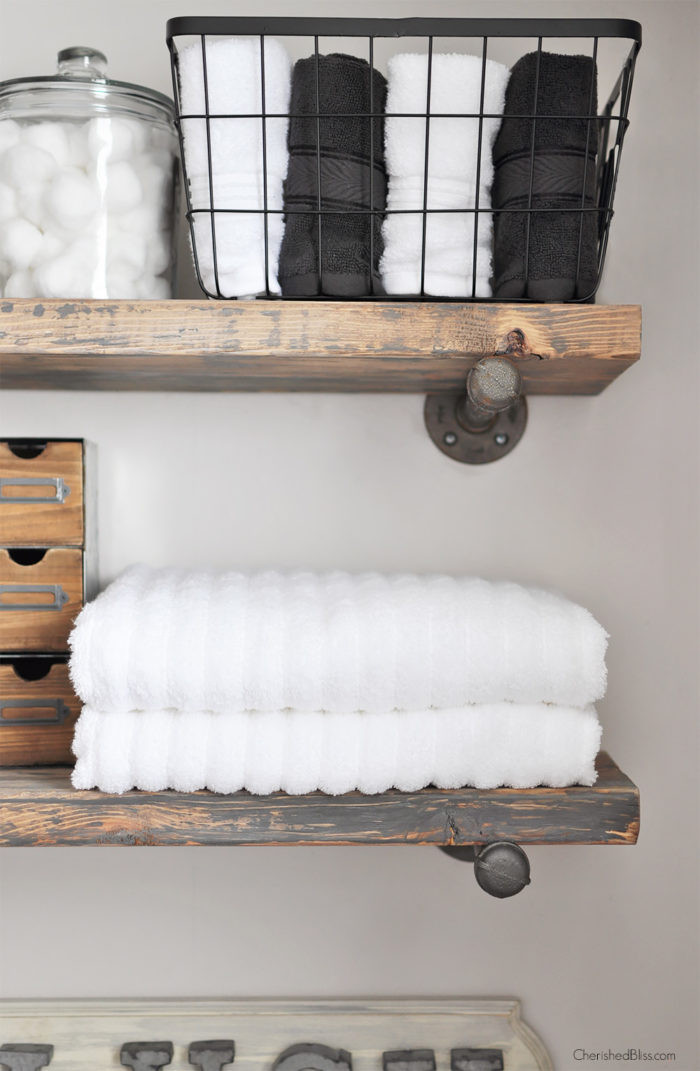 Best ideas about DIY Industrial Shelves . Save or Pin Link Party Palooza The 36th AVENUE Now.