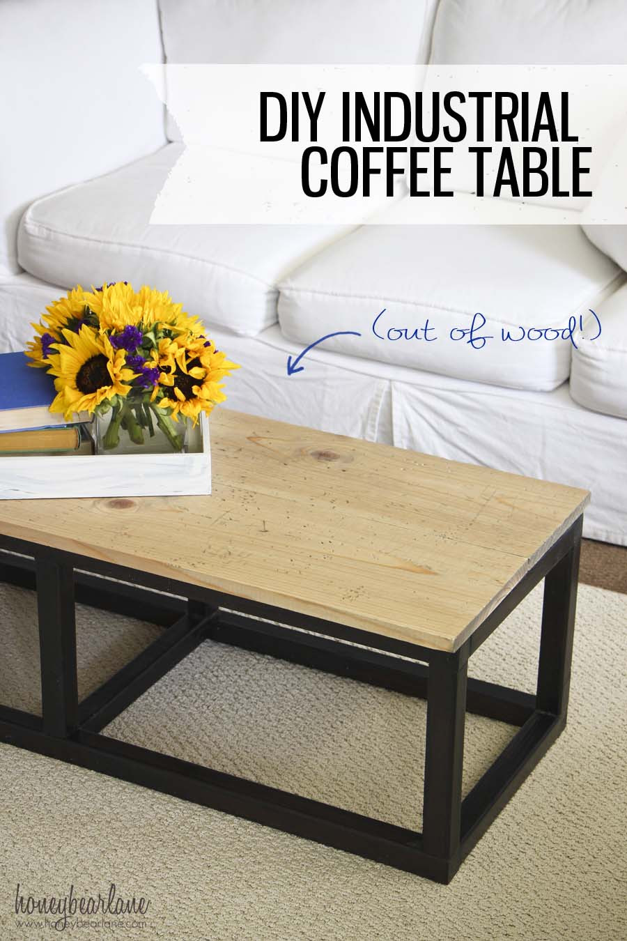 Best ideas about DIY Industrial Table . Save or Pin DIY Industrial Coffee Table HoneyBear Lane Now.