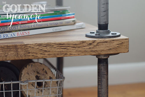 Best ideas about DIY Industrial Table . Save or Pin DIY Industrial Side Table A Tutorial The Golden Sycamore Now.