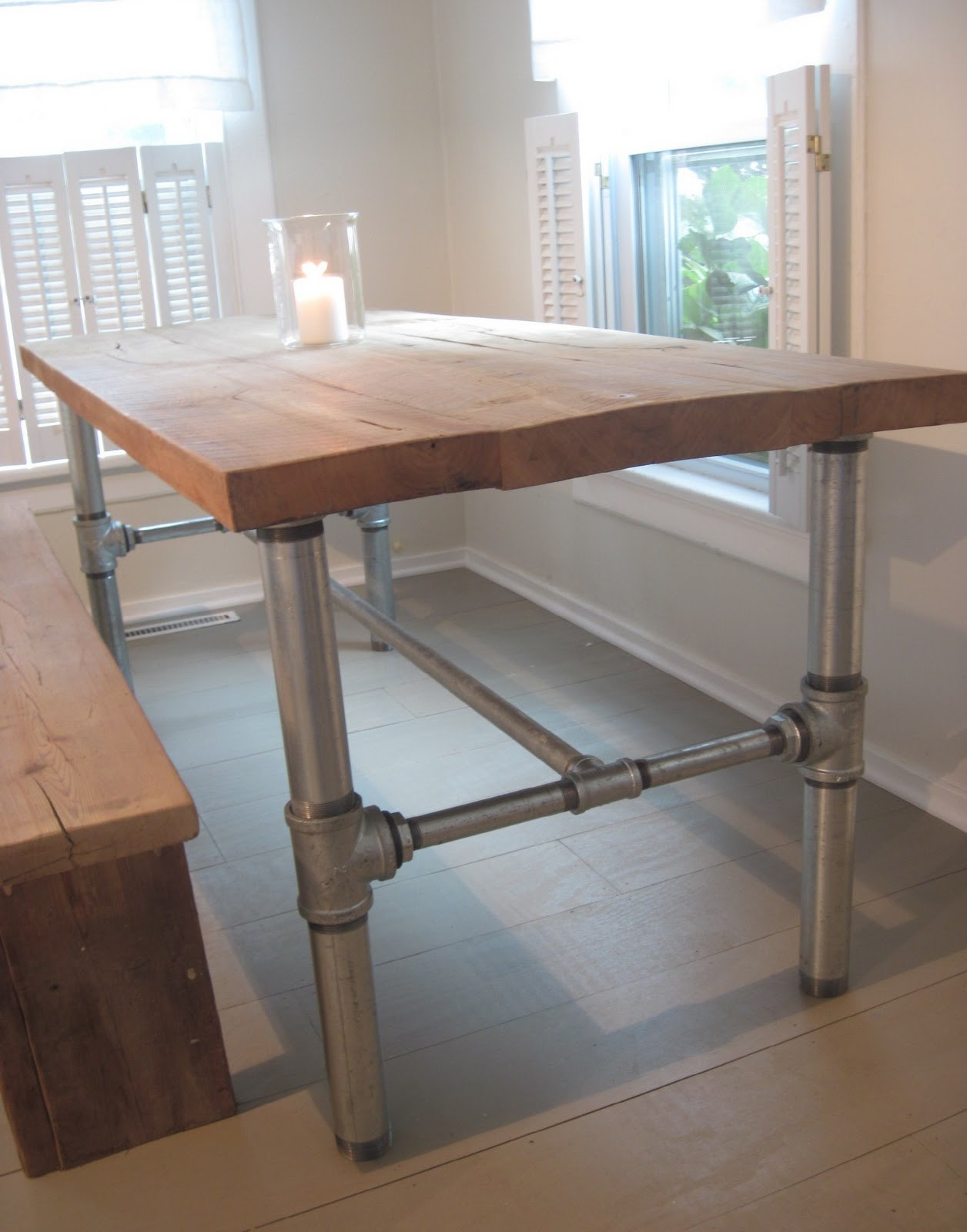 Best ideas about DIY Industrial Table . Save or Pin BACK TO HOME DESIGN industrial table base tutorial Now.