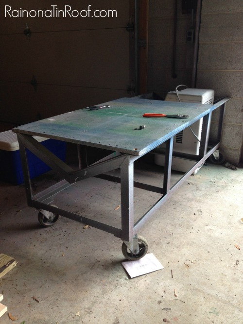 Best ideas about DIY Industrial Table . Save or Pin Industrial DIY Coffee Table from a Yard Sale Cart Now.