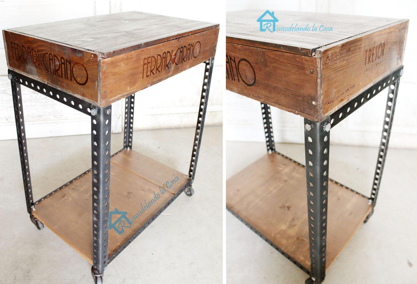 Best ideas about DIY Industrial Table . Save or Pin DIY Industrial Side Table Remodelando la Casa Now.