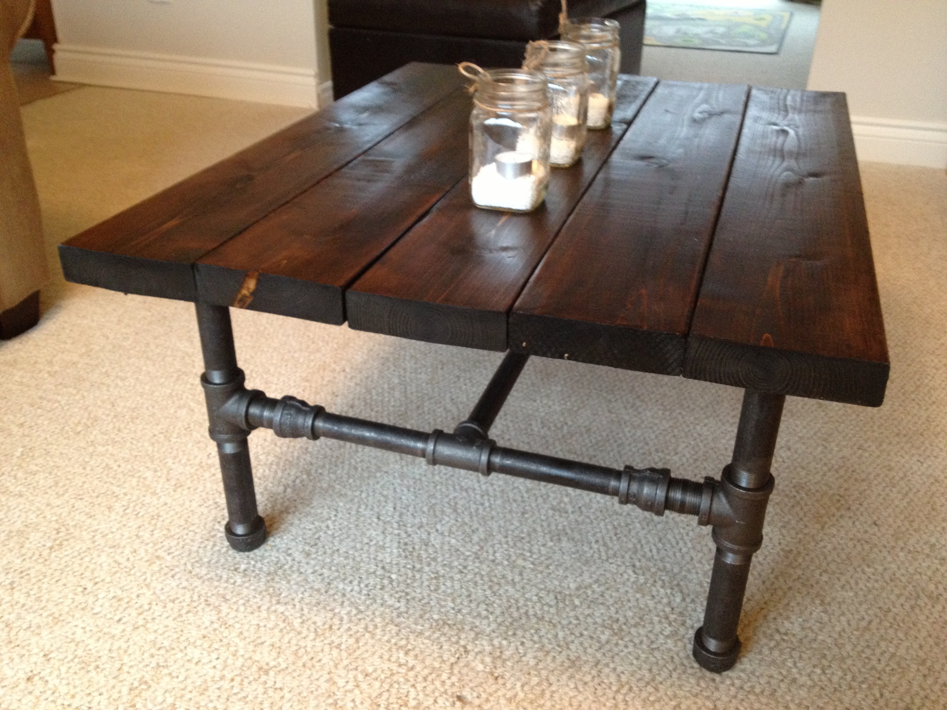Best ideas about DIY Industrial Table . Save or Pin Industrial Curtain Rod DIY Now.