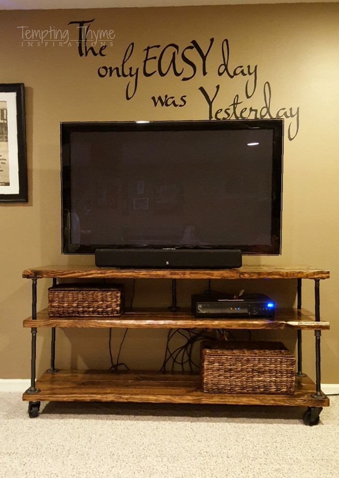 Best ideas about DIY Industrial Tv Stand . Save or Pin DIY Industrial TV Cart Now.