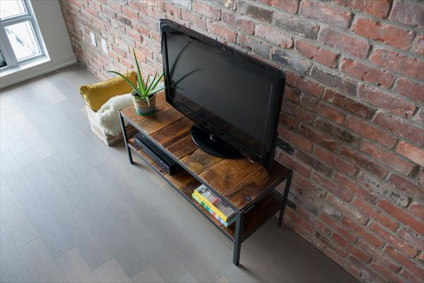 Best ideas about DIY Industrial Tv Stand . Save or Pin DIY Pallet Wood Media Stand Now.