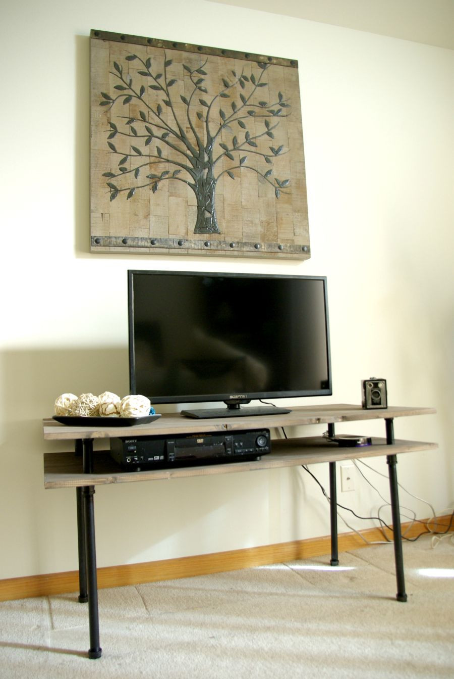 Best ideas about DIY Industrial Tv Stand . Save or Pin DIY TV Stand A Blend Industrial Rustic And Modern Now.