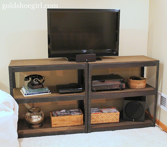 Best ideas about DIY Industrial Tv Stand . Save or Pin diy industrial style media center Now.