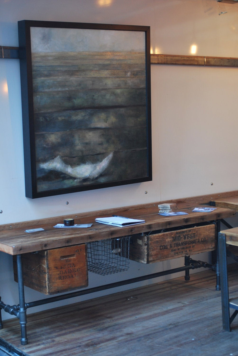 Best ideas about DIY Industrial Tv Stand . Save or Pin Industrial Reclaimed wood media tv stand 150 year plus Now.