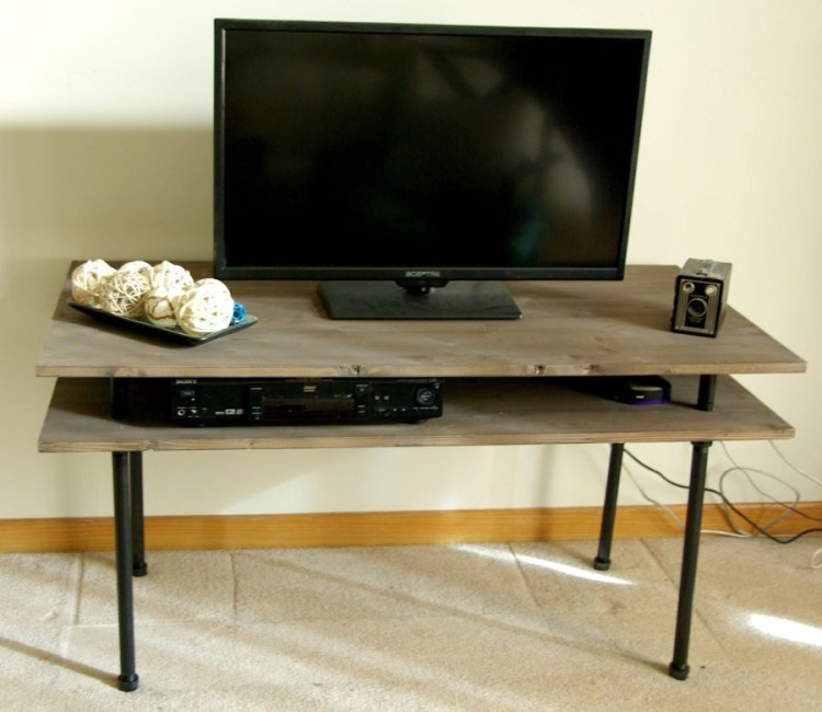 Best ideas about DIY Industrial Tv Stand . Save or Pin 9 Cool DIY TV Stands And Consoles To Make Shelterness Now.