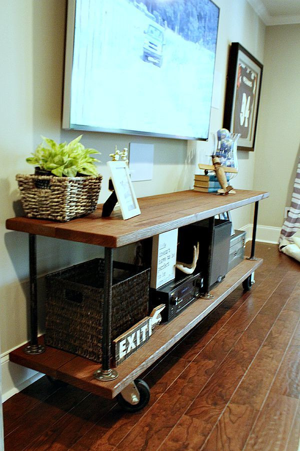 Best ideas about DIY Industrial Tv Stand . Save or Pin How to Build an Industrial Console Table Now.