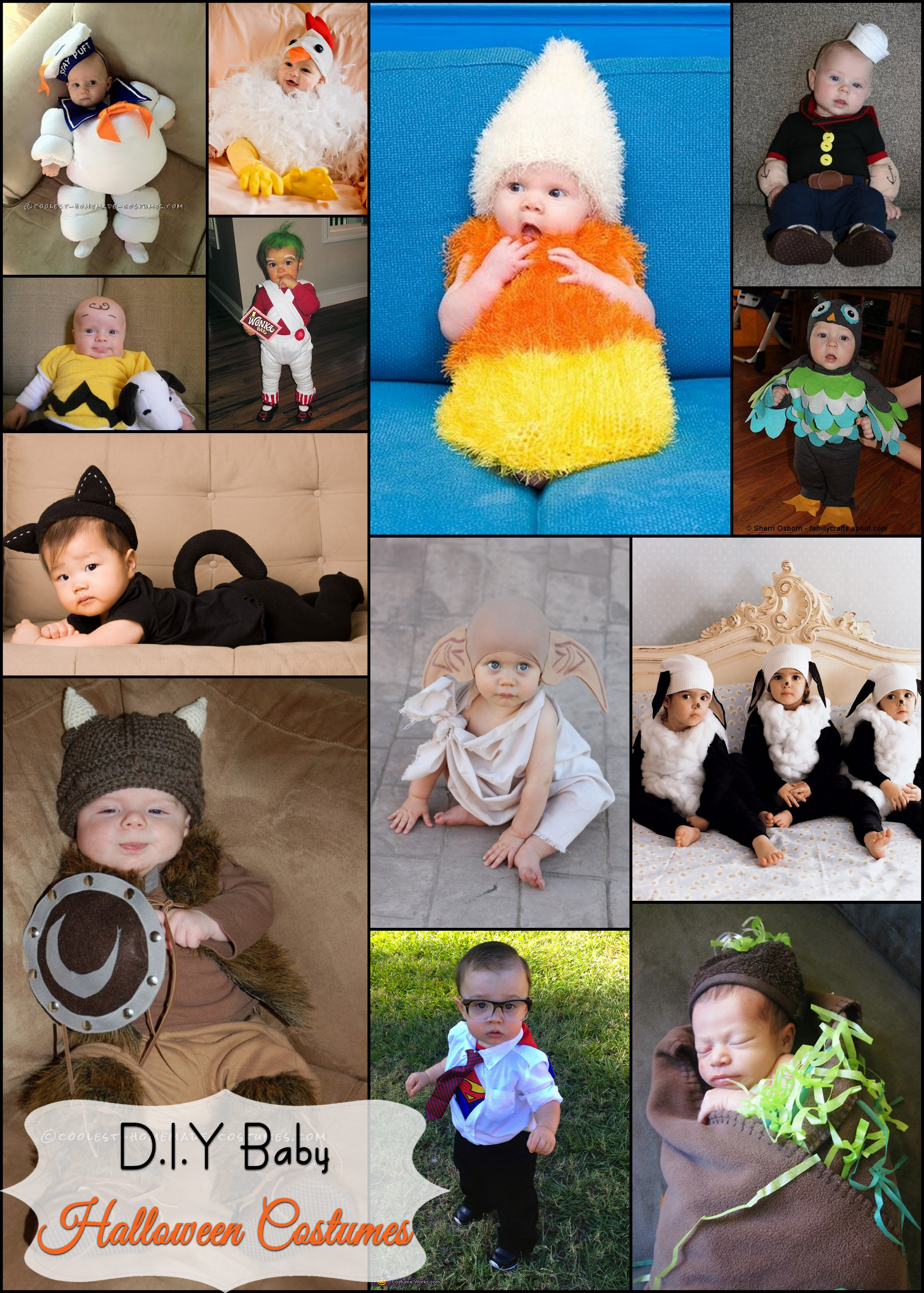 Best ideas about DIY Infant Costume . Save or Pin D I Y Baby Halloween Costumes Now.