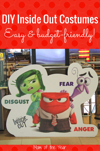 Best ideas about DIY Inside Out Costumes . Save or Pin DIY Inside Out Halloween Costumes The Mom of the Year Now.