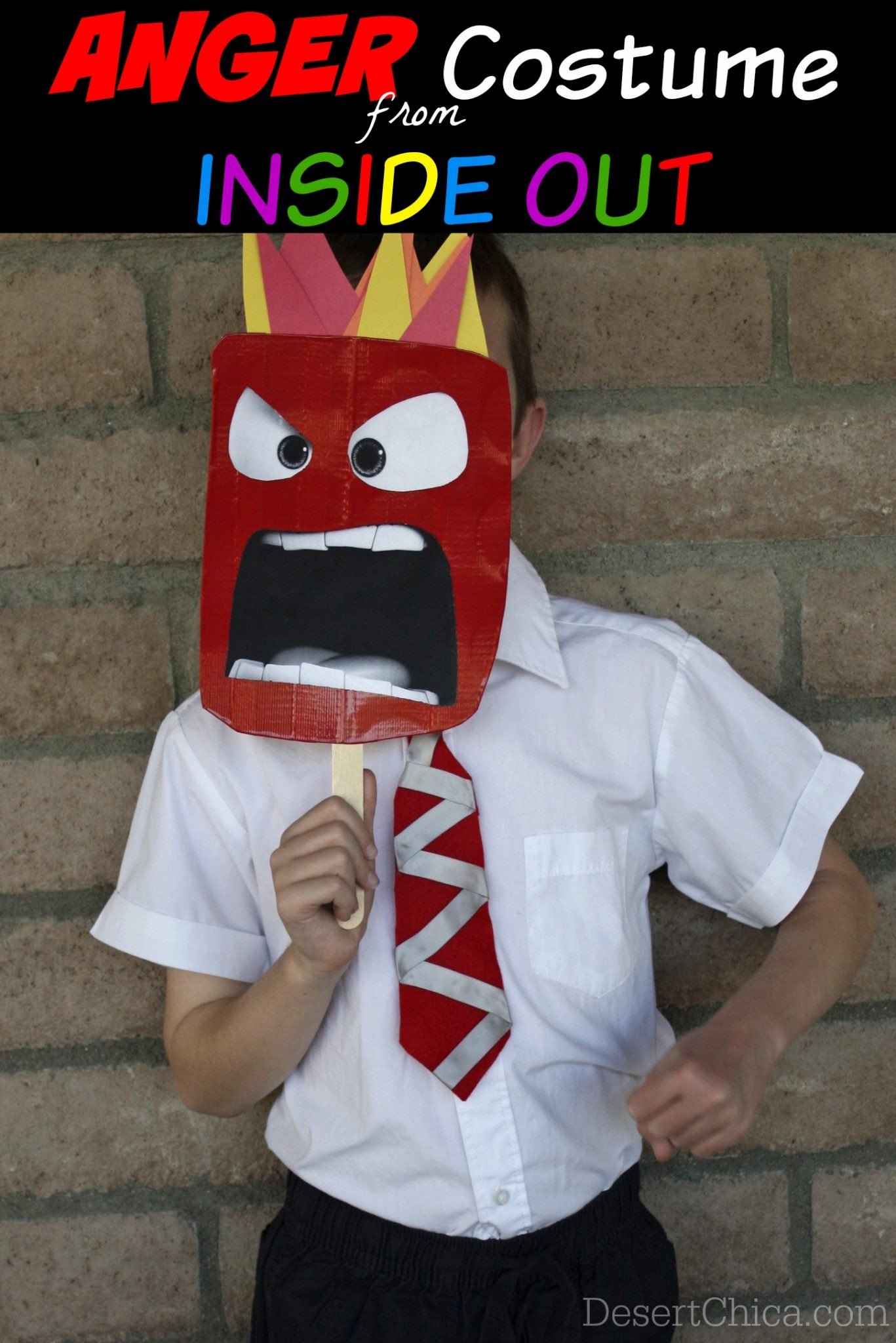 Best ideas about DIY Inside Out Costumes . Save or Pin DIY Anger from Inside Out Costume Now.