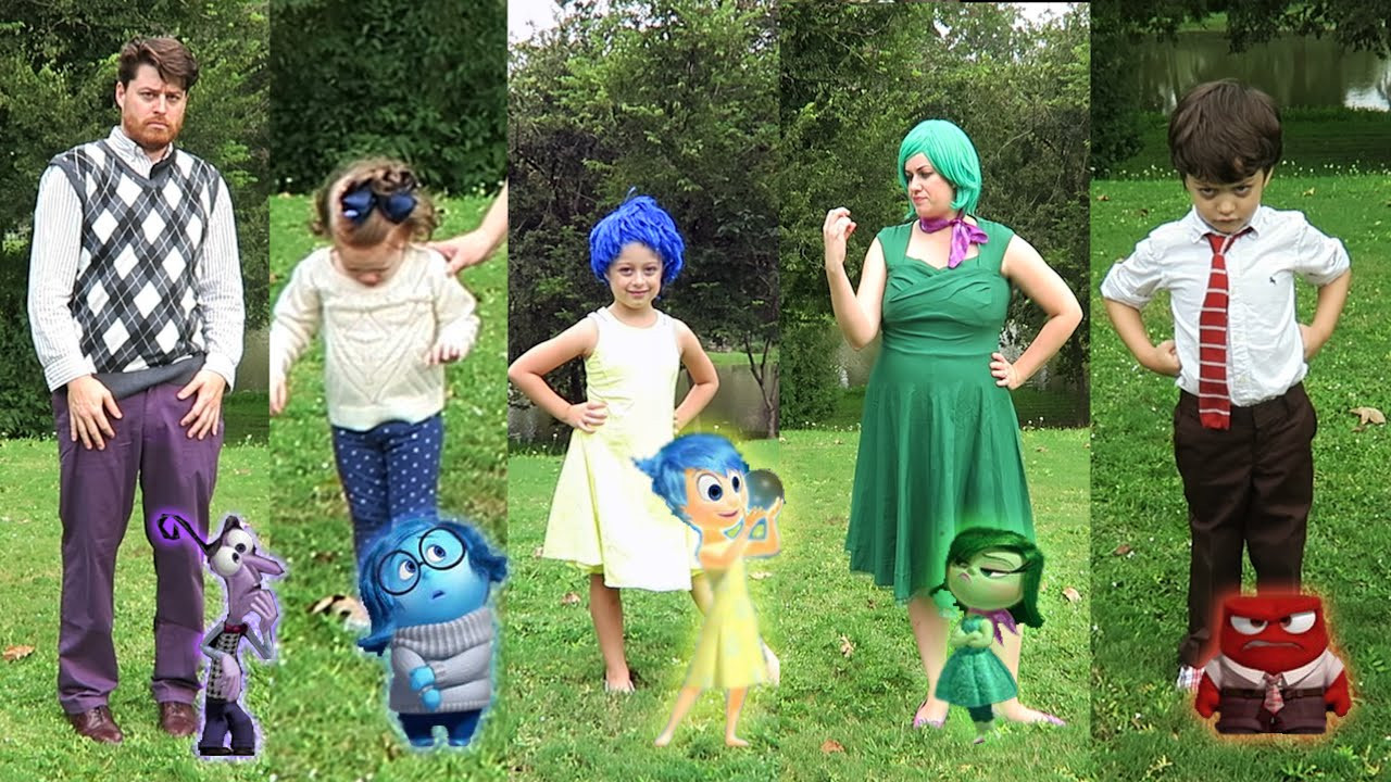 Best ideas about DIY Inside Out Costumes . Save or Pin DIY Inside Out Family Halloween Costumes and Now.