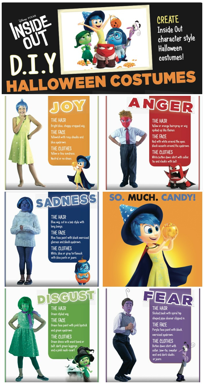Best ideas about DIY Inside Out Costumes . Save or Pin DIY Disney Inside Out Halloween costumes Mommy Mafia Now.