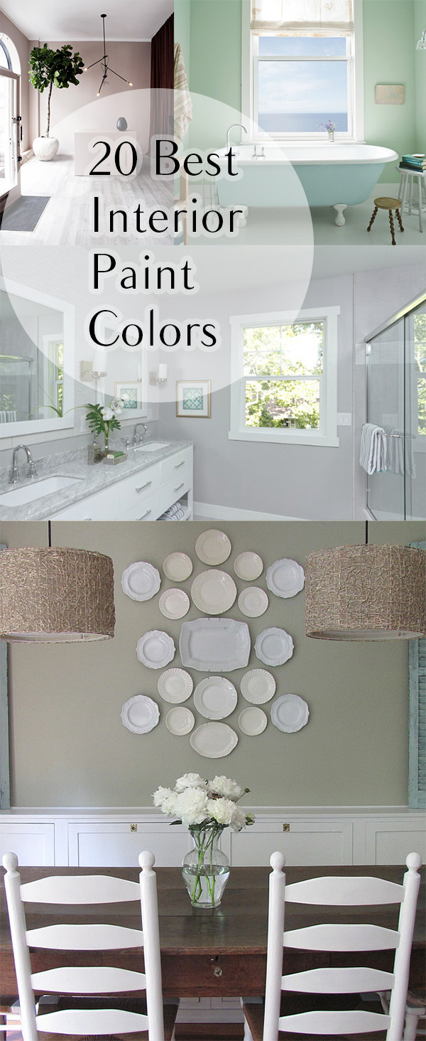 Best ideas about DIY Interior Painting . Save or Pin 20 Best Interior Paint Colors Now.