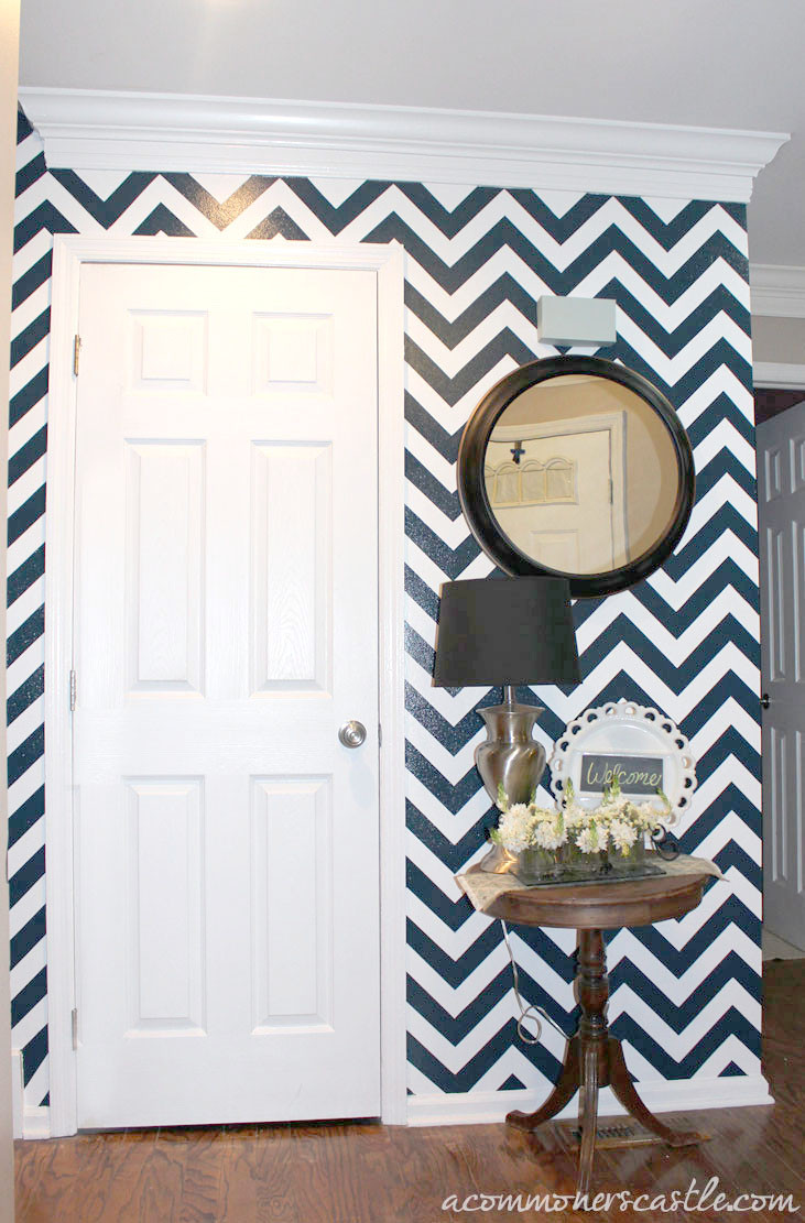 Best ideas about DIY Interior Painting . Save or Pin DIY Painted Chevron Striped Wall With Detailed Tutorial Now.