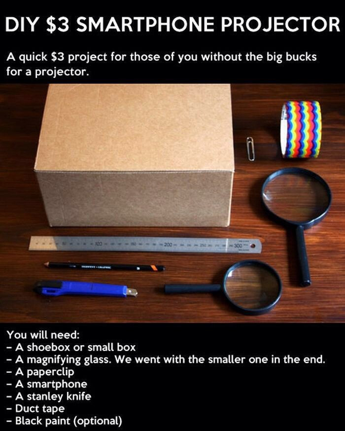Best ideas about DIY Iphone Projector . Save or Pin DIY iPhone Projector Now.