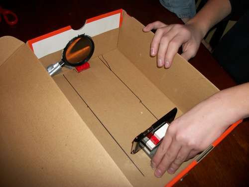 Best ideas about DIY Iphone Projector . Save or Pin Homemade iPhone Projector Puts Shoeboxes To Good Use Now.