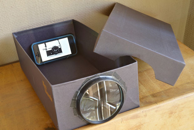 Best ideas about DIY Iphone Projector . Save or Pin Build a Cheapo Projector Using a Phone Shoebox and Now.