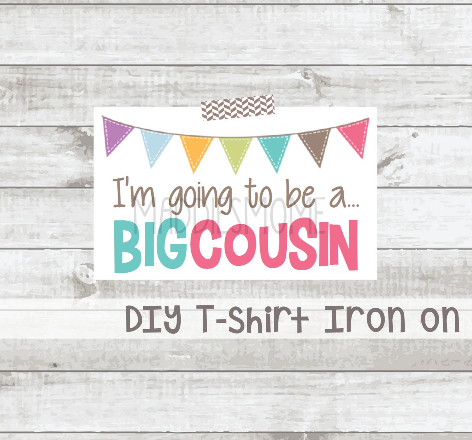 Best ideas about DIY Iron On Transfers . Save or Pin Big Cousin Iron on T shirt Transfer DIY T shirt Decal Big Now.