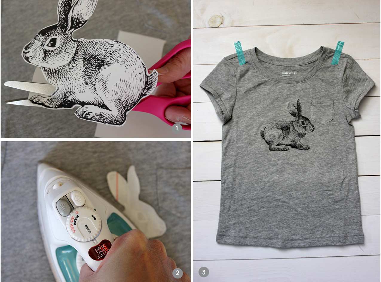 Best ideas about DIY Iron On Transfers . Save or Pin Alice and LoisDIY Iron on Vintage Bunny T shirt Now.