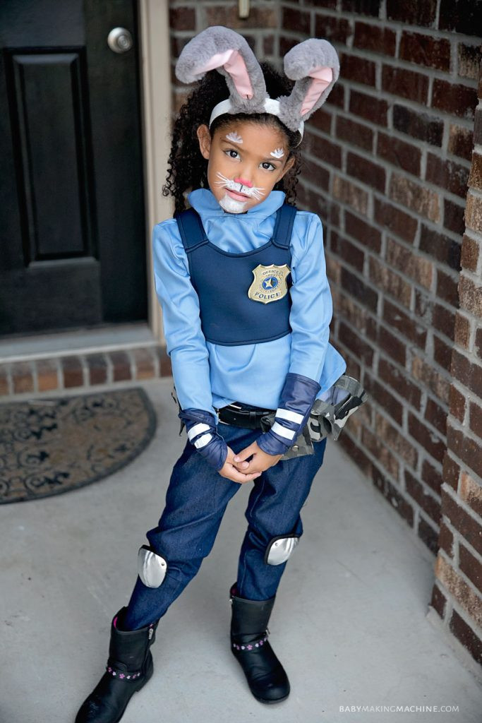 Best ideas about DIY Judy Hopps Costume . Save or Pin Here s A Fun DIY Zootopia Family Halloween Costume Idea Now.