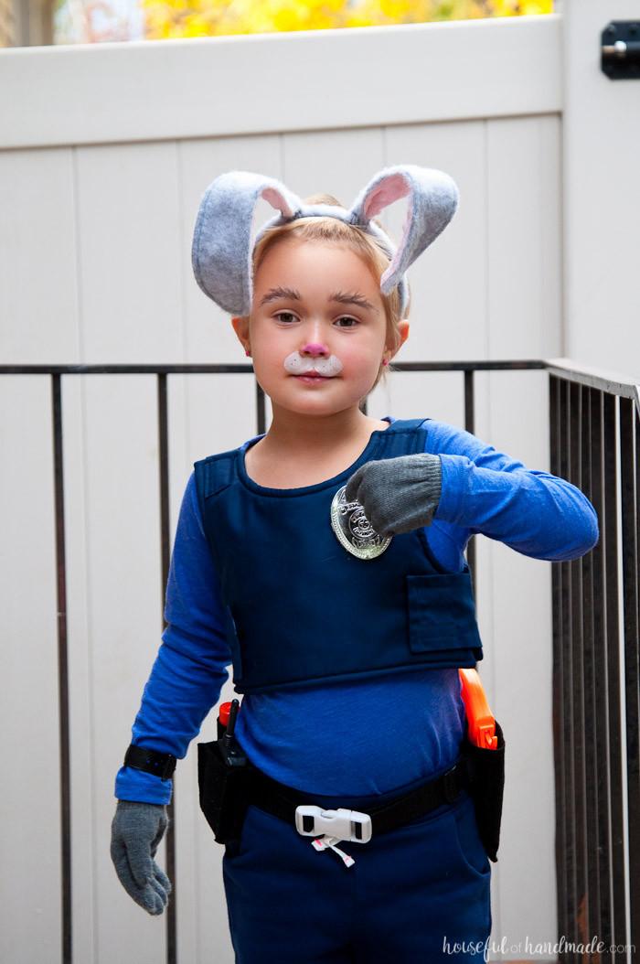 Best ideas about DIY Judy Hopps Costume . Save or Pin ficer Judy Hopps Halloween Costume Houseful of Handmade Now.