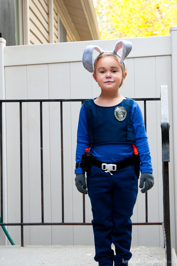 Best ideas about DIY Judy Hopps Costume . Save or Pin ficer Judy Hopps Halloween Costume a Houseful of Handmade Now.