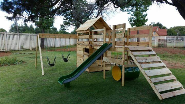 Best ideas about DIY Jungle Gym . Save or Pin DIY Reclaimed Pallet Jungle Gym Pallet Playhouse Now.