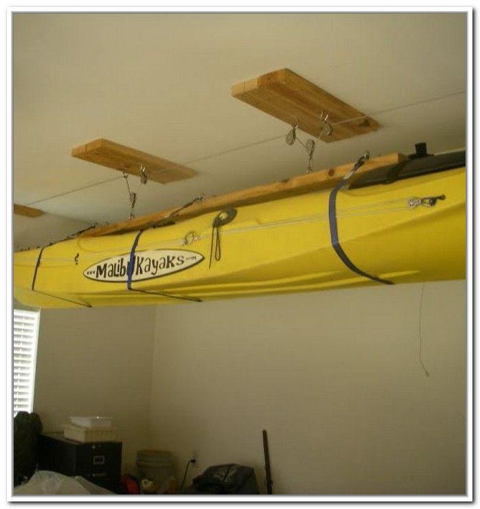 Best ideas about DIY Kayak Rack Ceiling . Save or Pin Kayak Storage Hoist Diy Yak life Now.