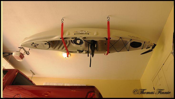 Best ideas about DIY Kayak Rack Ceiling . Save or Pin Kayak Storage Garage Now.