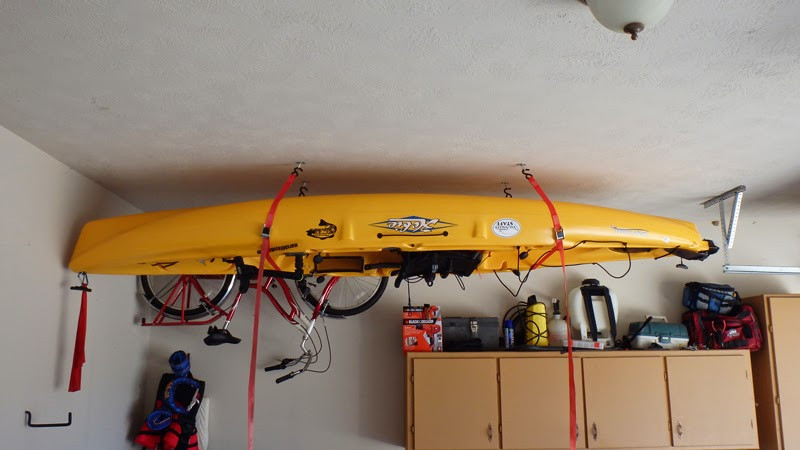 Best ideas about DIY Kayak Rack Ceiling . Save or Pin Diy kayak pulley system Now.