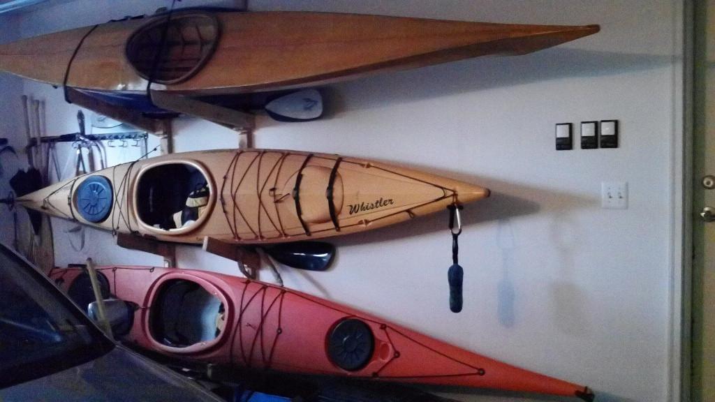 Best ideas about DIY Kayak Rack Ceiling . Save or Pin Inspiring Kayak Garage Storage 7 Kayak Garage Ceiling Now.