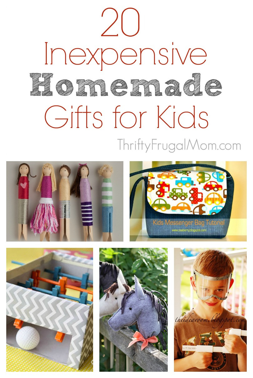 Best ideas about DIY Kid Christmas Gifts . Save or Pin 20 Inexpensive Homemade Gifts for Kids Now.